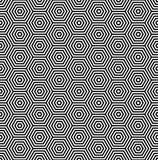 Modelo de los hexágonos Líneas geométricas inconsútiles textura Fotografía de archivo