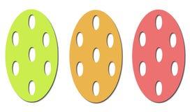Modelo de los huevos de Pascua Imagenes de archivo