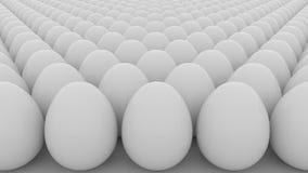 Modelo de los huevos ilustración del vector
