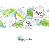Modelo de los huevos de Pascua libre illustration