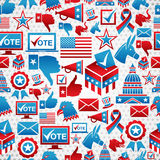 Modelo de los iconos de las elecciones de los E.E.U.U. Fotografía de archivo libre de regalías