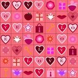 Modelo de los iconos del amor imagenes de archivo