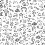 Modelo de los mariscos stock de ilustración