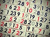 Modelo de los números Imágenes de archivo libres de regalías