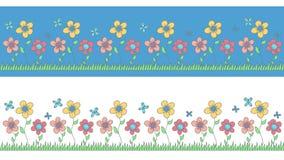Modelo de los niños de las flores para adornar un cuarto de niños, clo Fotografía de archivo libre de regalías