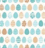 Modelo de los ornamentos de los huevos de Pascua stock de ilustración