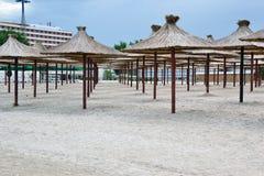 Modelo de los parasoles de playa Fotografía de archivo