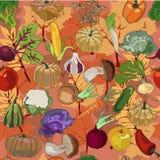 Modelo de los productos del otoño