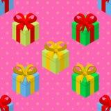 Modelo de los regalos Fotos de archivo libres de regalías