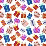 Modelo de los regalos de Navidad Fotos de archivo libres de regalías