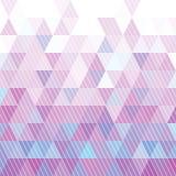 Modelo de los triángulos Imagenes de archivo