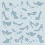 Modelo de los zapatos ilustración del vector
