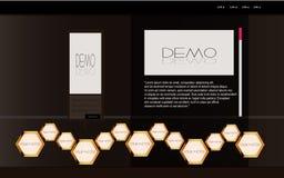 Modelo de lujo negro del Web Stock de ilustración