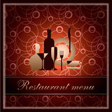 Modelo de lujo para el menú del restaurante de f Fotos de archivo