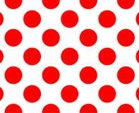 Modelo de lunar rojo y blanco Texturice para - la tela escocesa, la ropa, las camisas, los vestidos, el papel, el lecho, las mant stock de ilustración