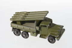 Modelo de máquina militar Imágenes de archivo libres de regalías