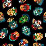 Modelo de máscara colorido étnico stock de ilustración