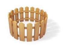 Modelo de madeira da cerca 3d Fotografia de Stock