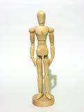 Modelo de madeira da pose Foto de Stock Royalty Free