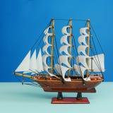 Modelo de madeira do brinquedo da embarcação de navigação (#1) Fotografia de Stock Royalty Free