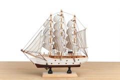 Modelo de madeira do navio Foto de Stock Royalty Free