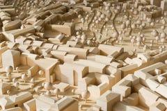 Modelo de madeira urbanístico Fotos de Stock