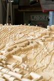 Modelo de madeira urbanístico Fotografia de Stock