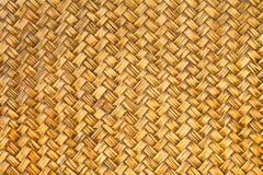 Modelo de madera de bambú tejido retro Imagenes de archivo
