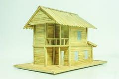 Modelo de madera de la casa Imagen de archivo libre de regalías