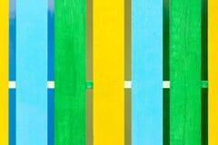 Modelo de madera de Texture de la cerca del color Imagen de archivo libre de regalías