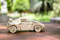 Modelo de madera del coche Imágenes de archivo libres de regalías