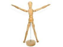 Modelo de madera del maniquí del artista imágenes de archivo libres de regalías