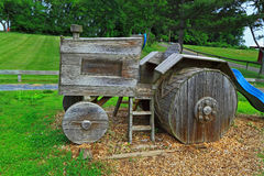 Modelo de madera del tractor Fotografía de archivo libre de regalías