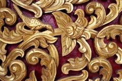 Modelo de madera esculpido del kanok hermoso Imagen de archivo libre de regalías