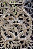 Modelo de madera hermoso del enrejado Foto de archivo