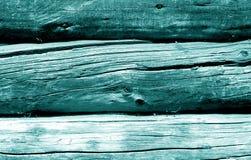 Modelo de madera de la cerca en color ciánico imagen de archivo libre de regalías