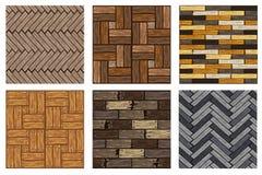 Modelo de madera de las baldosas de la raspa de arenque Tablero de madera gris del entarimado de la textura inconsútil Ejemplo de libre illustration