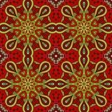 Modelo de Mandala Eastern Ornamento inconsútil de Zentangl stock de ilustración