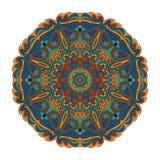 Modelo de Mandala Eastern Ornamento redondo de Zentangl stock de ilustración