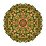Modelo de Mandala Eastern Ornamento redondo de Zentangl ilustración del vector