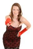 Modelo de manera adolescente joven que señala el dedo en usted Imagen de archivo libre de regalías