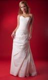 Modelo de manera de la novia en alineada de boda Foto de archivo libre de regalías