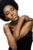 Modelo de manera del afroamericano Fotografía de archivo libre de regalías
