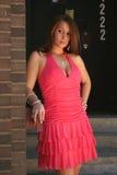 Modelo de manera en color de rosa Imagen de archivo libre de regalías