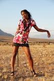 Modelo de manera en desierto. Imagen de archivo libre de regalías