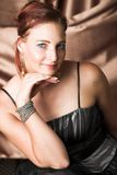 Modelo de manera femenino Fotografía de archivo libre de regalías