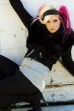 Modelo de manera gótico punky Fotografía de archivo libre de regalías