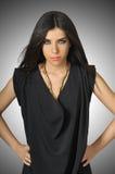 Modelo de manera hermoso con la ropa negra Foto de archivo