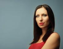 Modelo de manera lindo de la mujer Imágenes de archivo libres de regalías