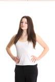 Modelo de manera lindo en la camisa blanca Foto de archivo libre de regalías